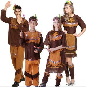 תחפושת אינדיאנית משפחתית